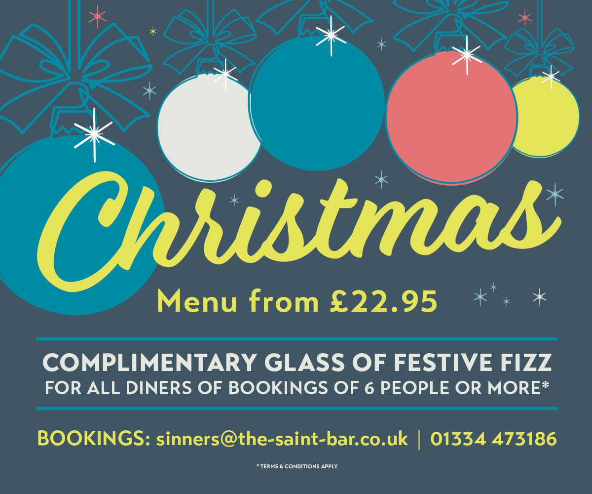 The Saint Christmas Nights Out in Saint Andrews Fife Book Here